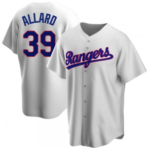 Youth Texas Rangers Kolby Allard White Home Cooperstown Collection Jersey - Replica