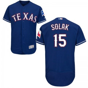 Youth Majestic Texas Rangers Nick Solak Royal Flex Base Alternate Collection Jersey - Authentic