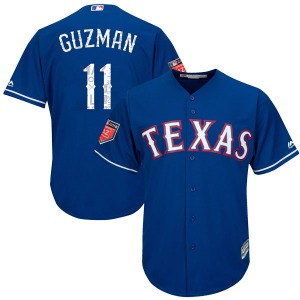Youth Majestic Texas Rangers Ronald Guzman Royal Cool Base 2018 Spring Training Jersey - Replica