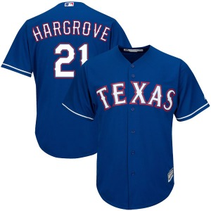 Men's Majestic Texas Rangers Mike Hargrove Royal Blue Cool Base Alternate Jersey - Replica